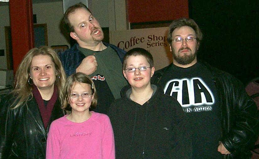 Jared, Haley, Buffy, Danuuc and Satyrboy at Coe