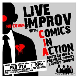 Comics In Action LIVE at Cranky Hank's Feb. 11, 2011